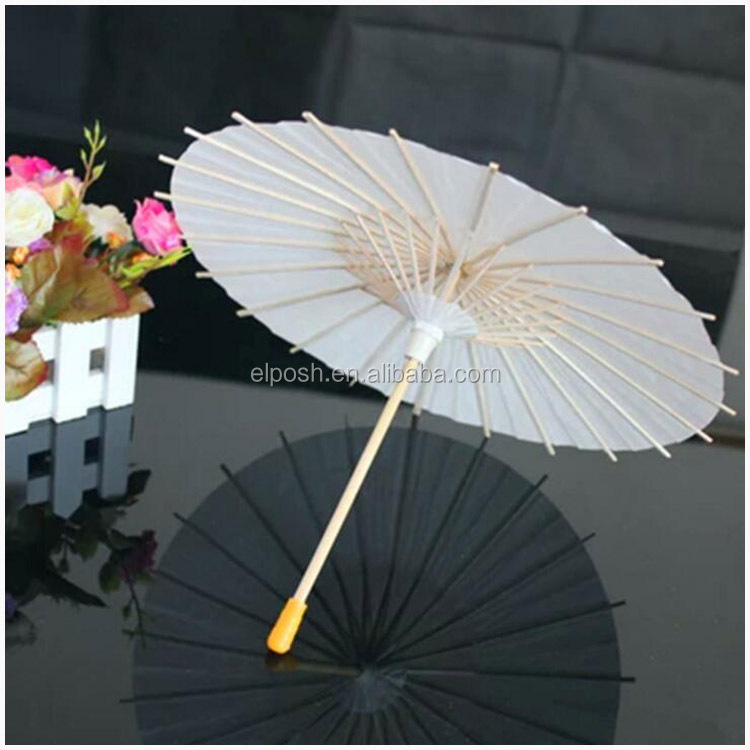 Wedding Ceremony Decor Plain Parasols Paper Umbrella