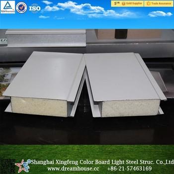 Iso espuma de poliuretano panel s ndwich pu para casas modulares precio panel s ndwich buy iso - Casas de panel sandwich ...