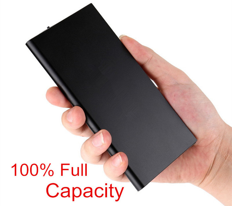 Popular Portable Charger Power Bank 10000mAh for Mobile Phone, Dual USB Powerbank with LED light