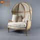 French Living Room Birdcage Chair/Wooden Linen Leisure Egg Chair