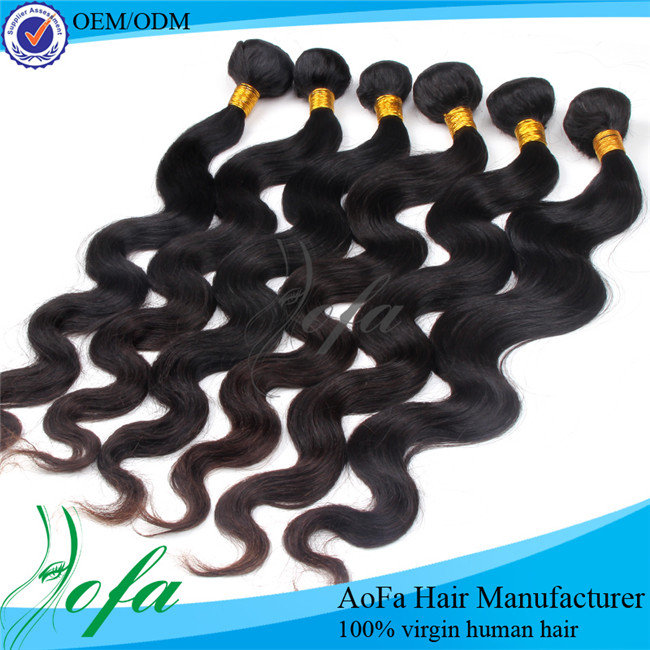100% high quality wholesale virgin brazian hair extension weave