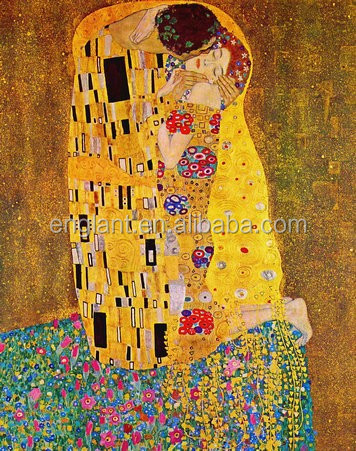 Handmade Gustav Klimt oil painting of kiss