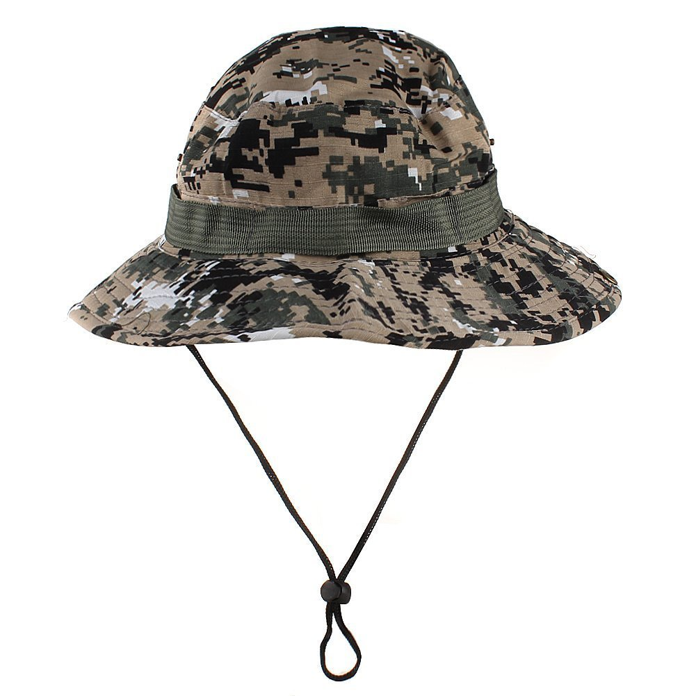f99b2673b4d Get Quotations · Sealike Camouflage Outdoor Fishing Hat Boonie Hat Cap  Jungle Hat with Stylus