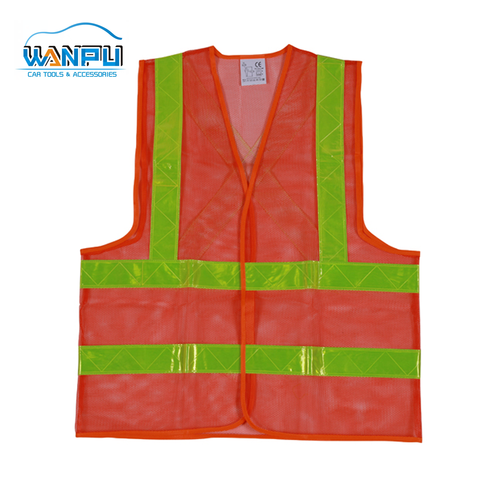 high visibility mesh reflective road Reflective Running Vest breathable security guard Wholesale mesh safety vest
