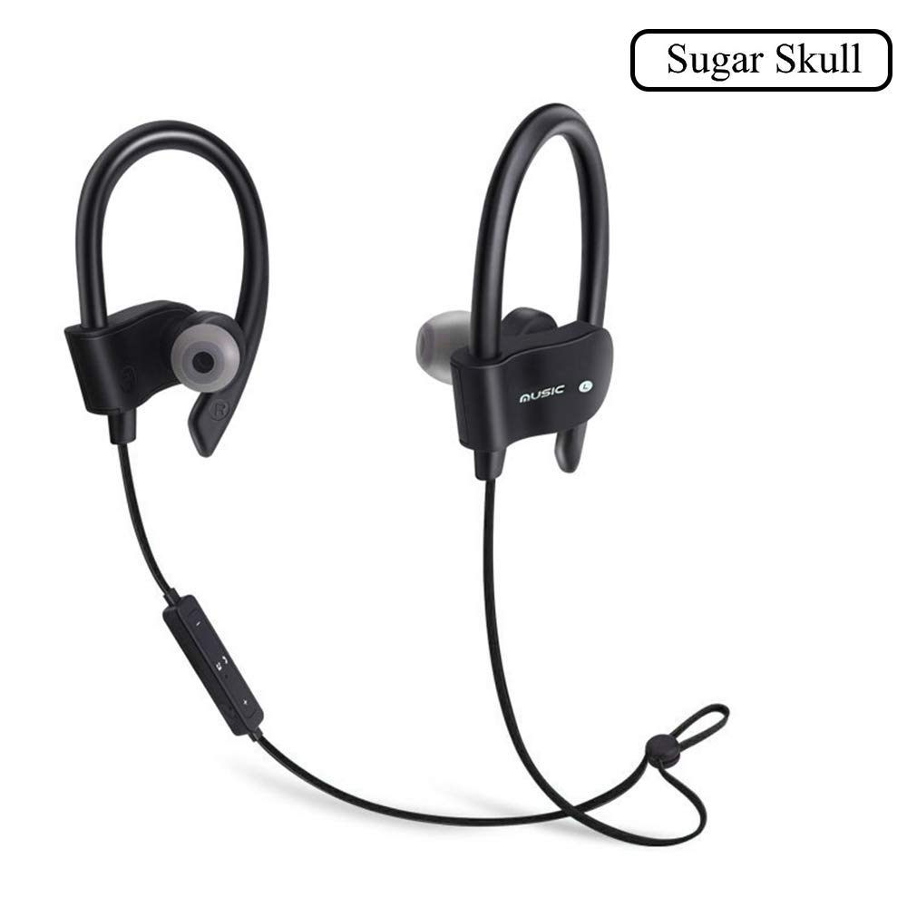 b8e03b8c933 Get Quotations · Wireless Bluetooth Headphones Headset Neckband Comfortable  and Noise Canceling Sweat Proof Earphone for Running & Gym
