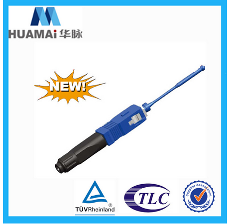 Nanjing Huamai Factory Price fiber optic fast connector hot Melting type/fusion splice on connector for 2.0*3.0 drop cable