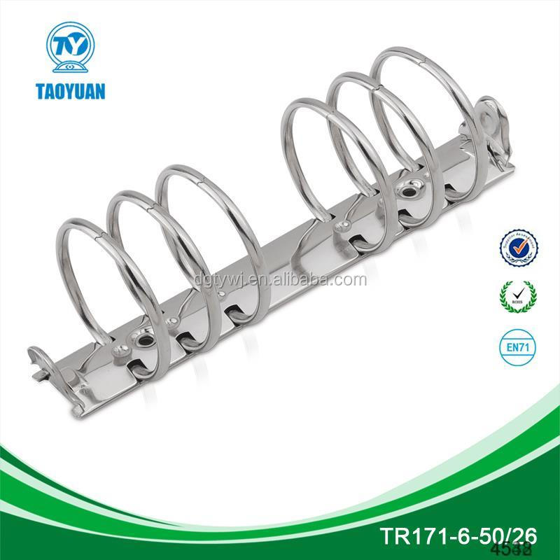 large capacity bid diameter metal 6 ring binding clip