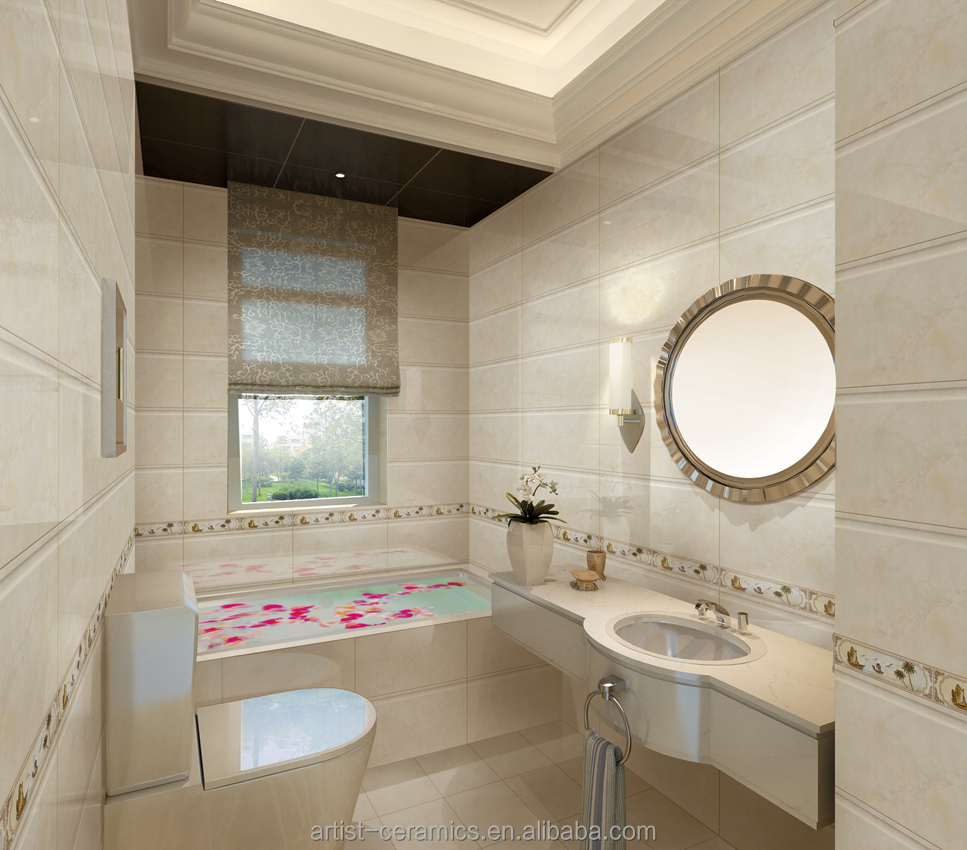 23 Simple Bathroom Tiles Flower Design