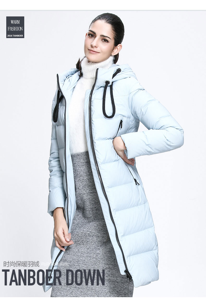 8fcd003a952 TANBOER women's down jackets fashion safety new arrivals softshell puffer  duck down coats winter coats for