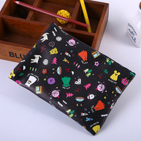 2016 Most Popular Korean Ghost Pop PU Leather Pencil Bag With Zip
