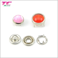 Custom Four Parts Press Metal Snap Button Wholesale Printed Fashion Ring Cap Pearl Prong Snap Buttons With Machine & Tool