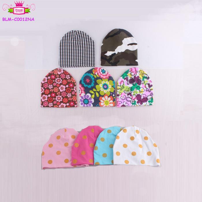 Fashion accessories Cotton floral headwear Hats funny Unisex Beanie Cap  bonnet Newborn summer custom your own design hat 0-6m ce21b81693b