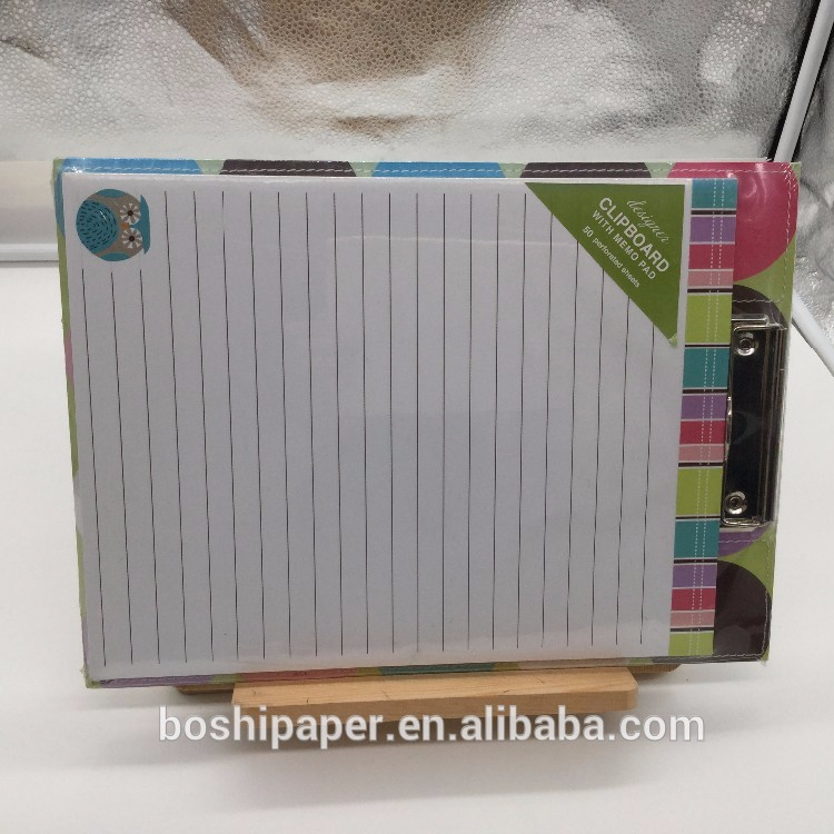 Custom design note pad memo prancheta atacado