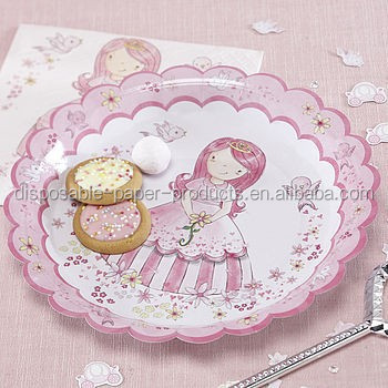 Vintage Theme Party Shabby Princess Pink Party Paper Plates - Buy ...