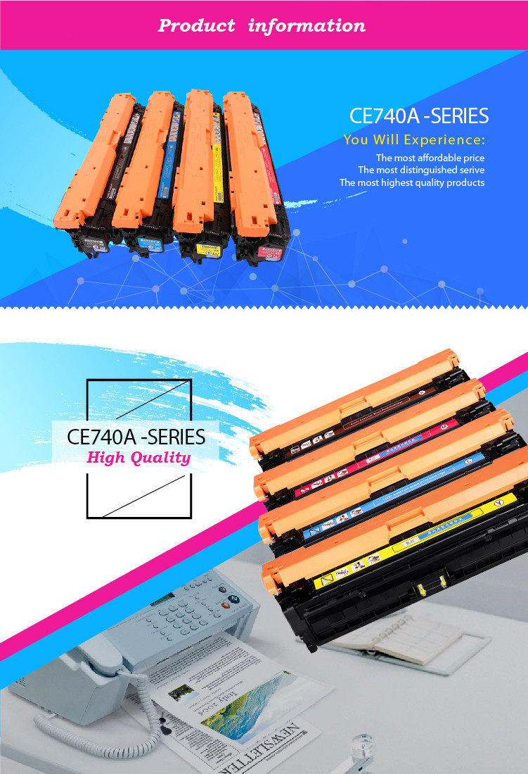 GS Toner Cartridges Remanufactured for HP CE740A CE741A CE742A CE743A