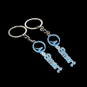 Custom casting letter metal zinc alloy keyring keychain no minimum