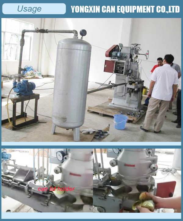 Automatic mushroom can sealer machine in steamed vacuum