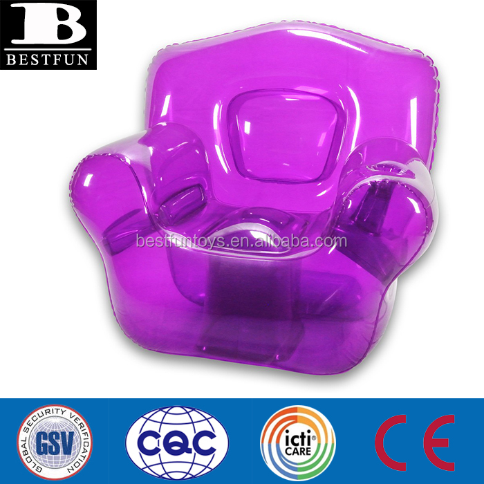 Promotional Inflatable Pool Chair Inflatable Air Chair Inflatable . With Plastic  Bubble Chair
