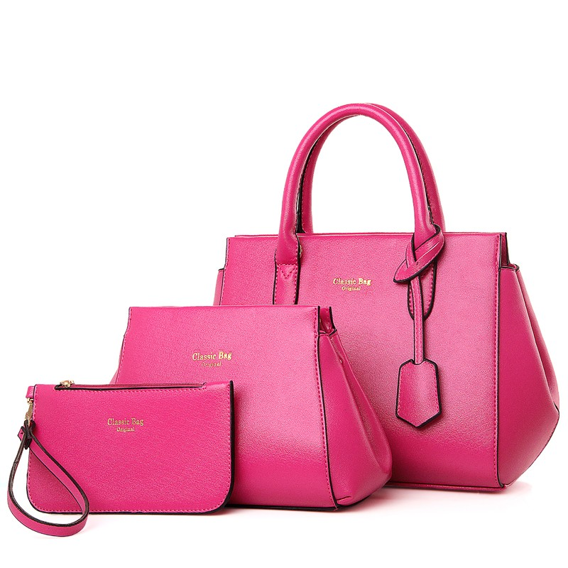 045454e7884a6 2016 3pcs in one set bag factory women bag purse Classic ladies totes Bags  handbags