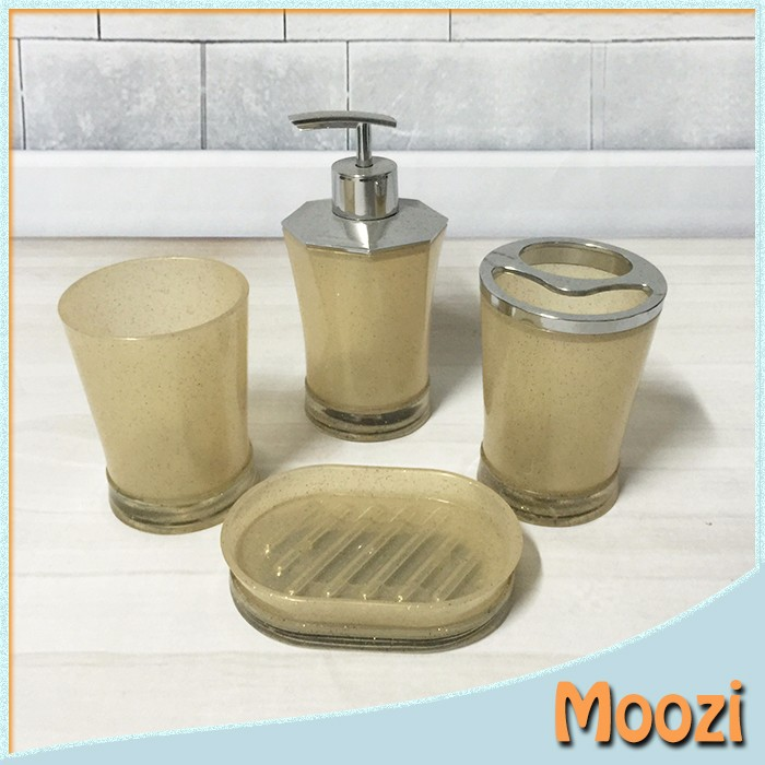 Plastic hotel funny bathroom accessory set buy hotel for Bathroom accessories plastic