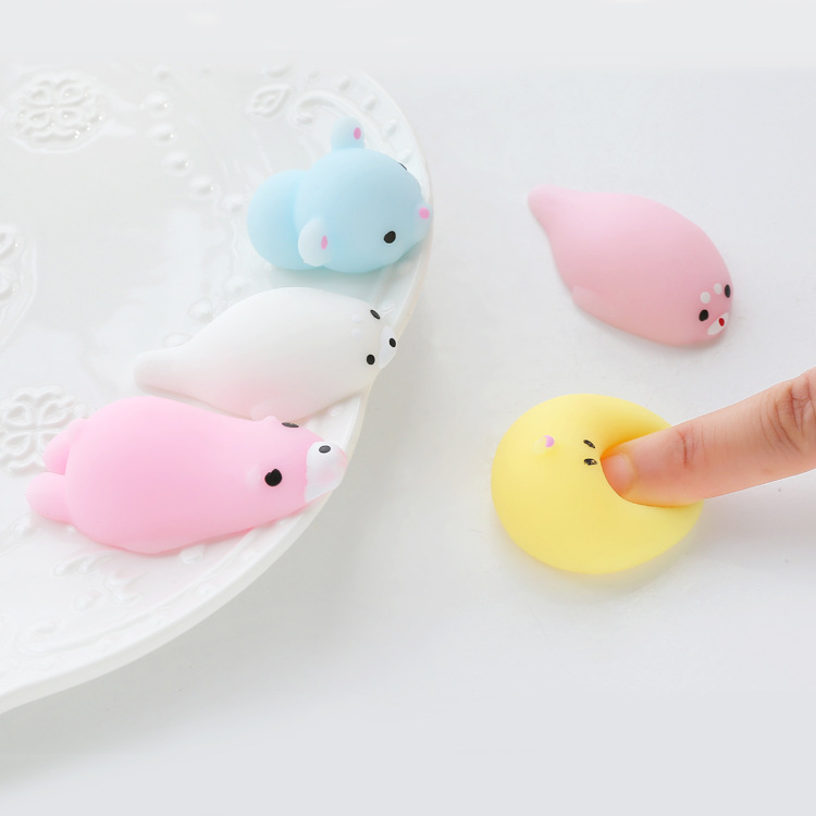 Squishy Toys Cats : Creative Gift Ornaments Cute Animal Squishy Cat Pig Bear Squishies Anti Stress Toys Stress Ball ...