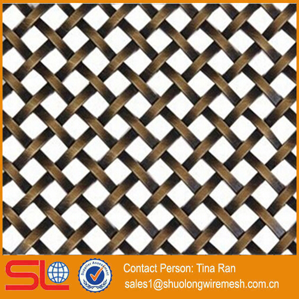 Shuolong Supply Decorative Wire Mesh For Cabinets Xy 1510g Woven Stainless Flat Product On