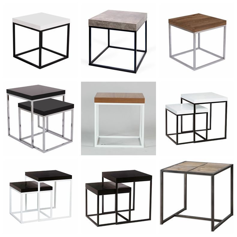 2015 New Design KD Metal Base Side Table , Computer Side Table
