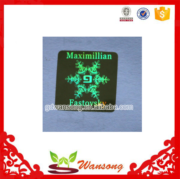 factory make transparent hologram stickers, customize bike logo sticker