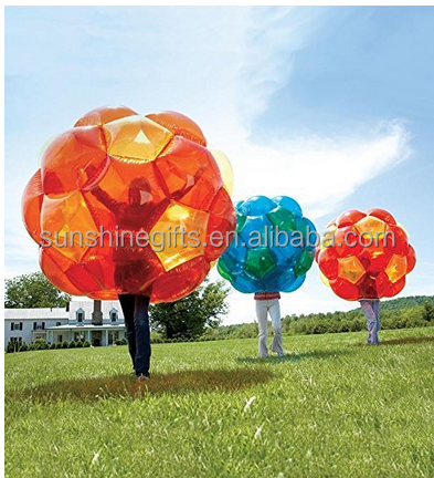 "Kids outdoor game 36"" inflatable body bumper ball inflatable bubble soccer ball"