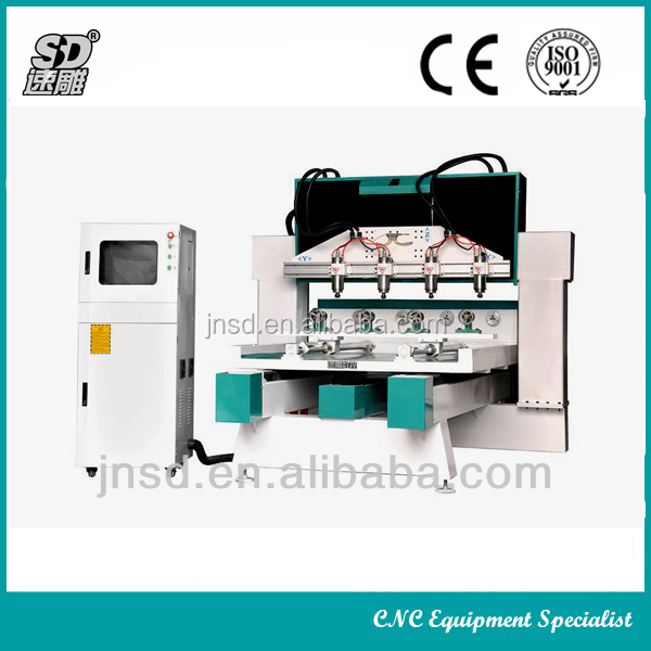 4 Axis 3D CNC Router SD-2512 for stand coloum/buddha/wood furniture