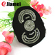 Custom made personalized kid clothing black fabric sequin embroidery