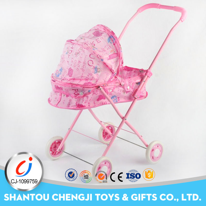 High quality cart game set pretend baby trolley price for doll