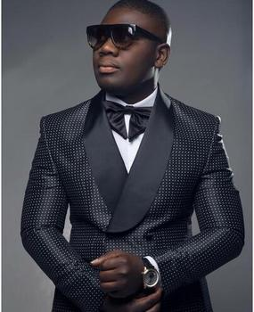 2017 Custom Made Black Men And White Groom Wedding Tuxedos Jacket Pants Bow