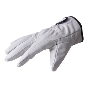 Leather motorcycle hand glove for bike race