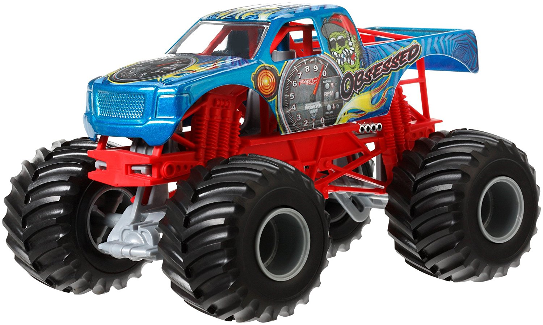 Hot Wheels Monster Jam Obsessed Die-Cast Vehicle, 1:24 Scale