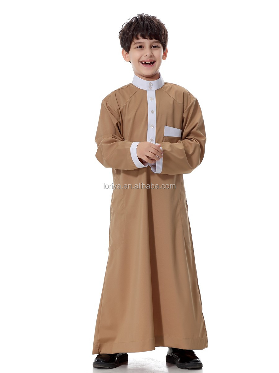 Children muslim clothing high quality boy's long islamic dress kids abaya