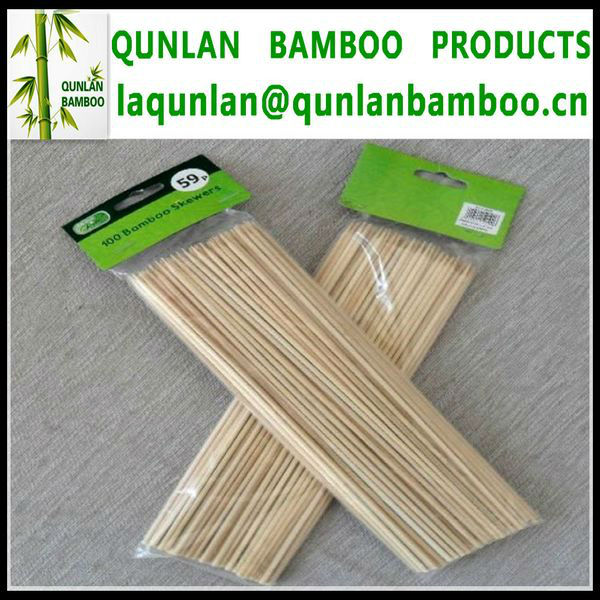 Round Bamboo Skewer With Custom Logo