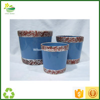 Terra cotta clay pots pottery planters large round glazed terra cotta pots