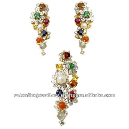 New design gold pendant setcolor gemstone jewelry design2013 new design gold pendant setcolor gemstone jewelry design2013 latest designer white gold pendant set buy indian gold pendant setsdesigner white gold set aloadofball Images