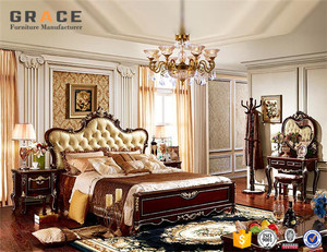 H8835R wooden indian furniture king size beds set furniture