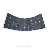 120W Non-glue back thin film flexible solar panel
