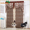 Polyester Jacquard Blackout Decorative Window Curtain With Flower Pattern