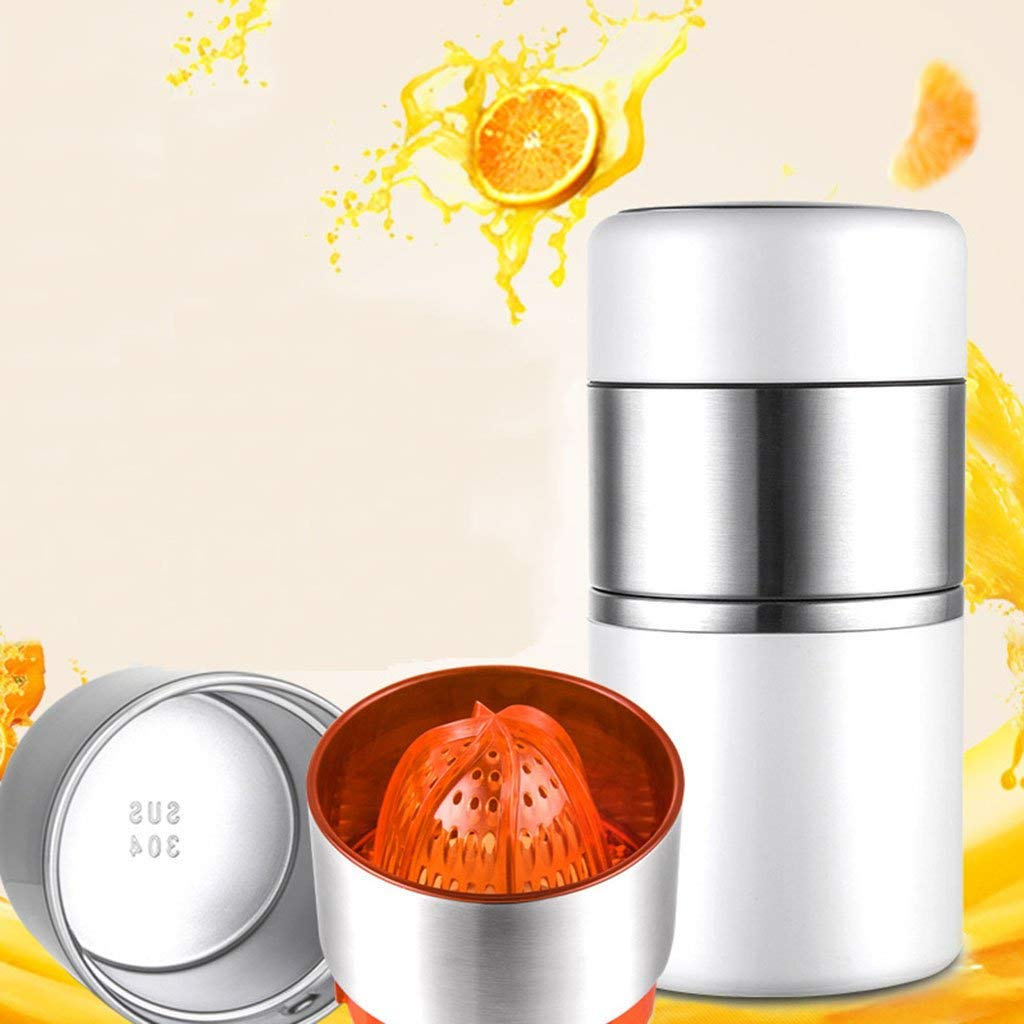 WLWWY Manual Juicer Multi-Function Mini Household Citrus Juicer Lemon Orange Juicer Manual Squeezer, Lemon Citrus Hand Press Lime Squeezer Juicer18080Mm,White