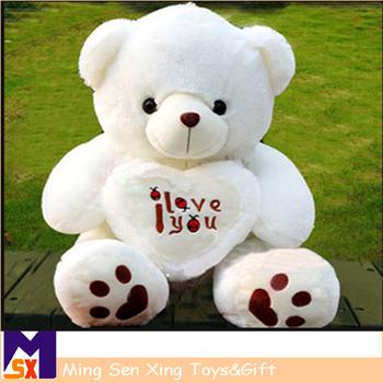 Murah Boneka Beruang Putih Hewan Mewah Mainan 5afb666bb9