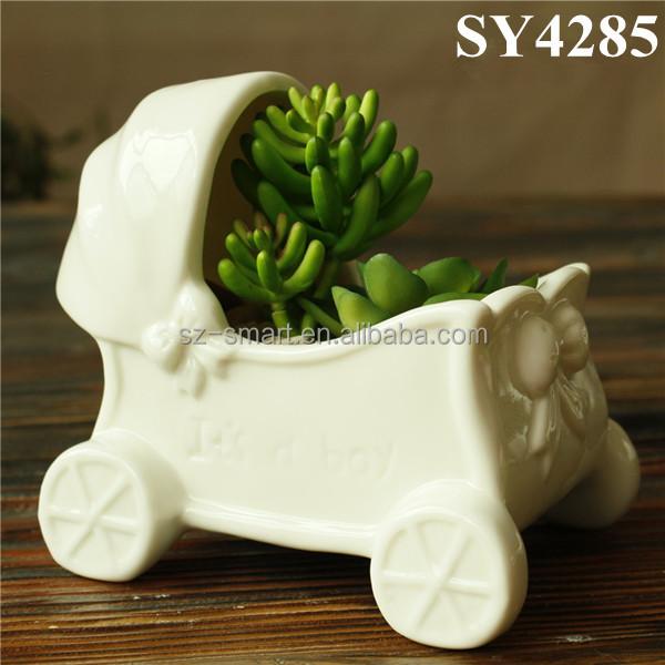 Cheap small indoor office ceramic pot