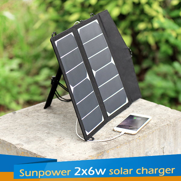 12W solar charger for car,6V portable solar charger