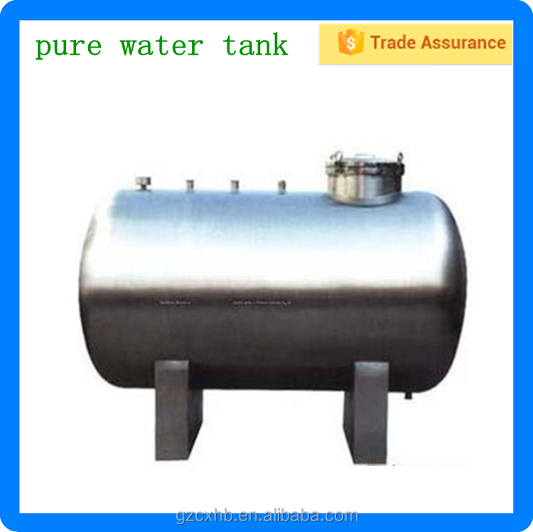 Factory hot sale stainless steel horizontal gas storage water tank in guangzhou