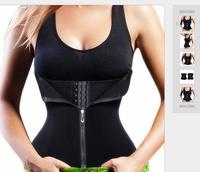 2017 weight loss shaper new amazon hot sale slimming zipper neoprene Waist Cincher Corset Waist Trainer