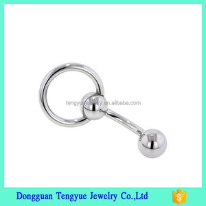 titanium body jewelry magnetic fake navel dangle ring belly button piercing