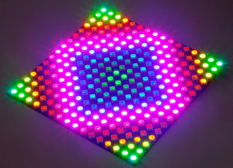 Visdoll 16x16 256 Pixels WS2812B 5050 RGB LED Panel, Individually addressable Full Dream Color LED Lamp Lighting